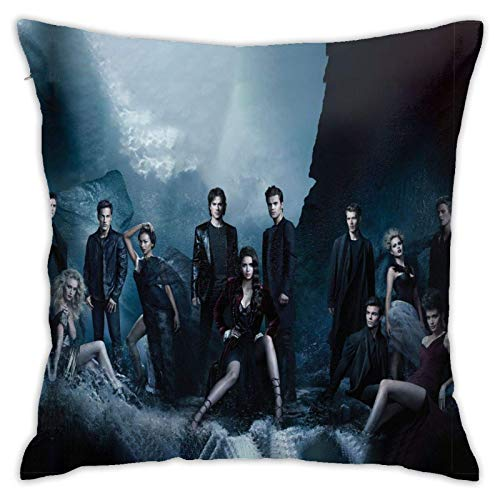 Pillow case Throw Cover Square Throw Cushion the Vampire Diaries Pattern Pillows Case Soft Throw Pillow Duple-side Pattern Co.