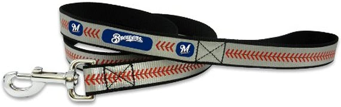 store MLB Milwaukee Brewers Baseball Leash Limited time for free shipping Reflective Pet Small