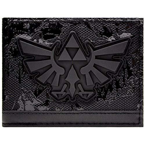 Legend of Zelda Embossed Hyrule Königreich Portemonnaie Geldbörse Schwarz