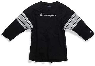 Champion Womens W3133G Heritage Football Tee 3/4 Sleeve Shirt