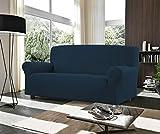 Banzaii Copridivano 2 Posti Blu – Elasticizzato Antimacchia – Estensibile da 100 a 150 cm con braccioli sagomati - Made in Italy