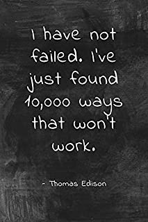 Keep Calm Collection I Have Not Failed (Thomas Edison Quote), classroom motivational poster