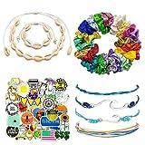 VSCO Girl Stuff Pack – Pulseras de Moda Boho-Chic, Collar de Concha Pulsera, Pegatinas para Botellas de...