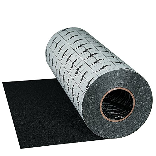 Gator Grip: Premium Grade High Traction Abrasive Non Slip 60 Grit Indoor Outdoor Anti-Slip Adhesive Grip Safety Tape, 18 Inch x 60 feet, Black – used on stairs, docks, treads, boats, ramps