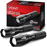 Vont 'Blaze' Tactical Flashlight (2 PACK) LED Flashlights, Extremely Bright Flash Light, High Lumen,...