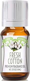 Fresh Cotton Scented Oil by Good Essential (Premium Grade Fragrance Oil) - Perfect for Aromatherapy, Soaps, Candles, Slime, Lotions, and More!