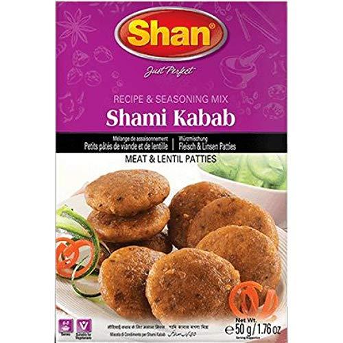 2xShan Shami Kabab 50g PORTOFREI Würzmischung Fleisch Linsens Patties