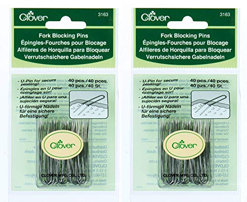 CLOVER 3163 Fork Blocking 40 Count U-Pins, 1-3/4-Inch (Тwo Рack)