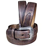 3D 1 1/2' Brown Men's Western Basic Belt