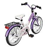 BIKESTAR Kinderfahrrad für Mädchen ab 4-5 Jahre   16 Zoll Kinderrad Classic   Fahrrad für Kinder Lila & Weiß   Risikofrei Testen - 4