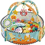 Early Education Activity Gym Play Mat Toy & Ball Pit with Tummy Time