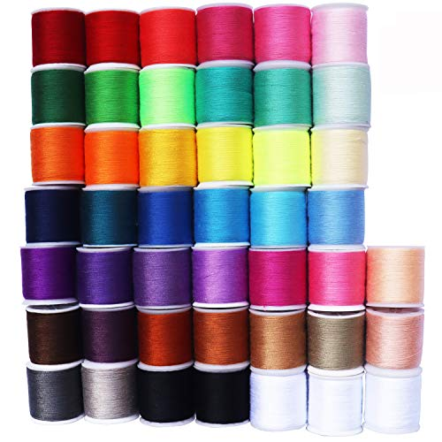 45 spools Sewing Thread Kits Polyester for Hand & Machine Sewing Total 4500yards