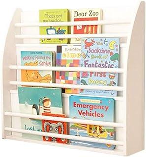 Jcnfa-Estante Estante para Libros Librero Estantería Blanca De Doble Uso Montada En La Pared, para Niños, Estudiantes (Color : Blanco, Tamaño : 27.55 * 6.69 * 26.37in)