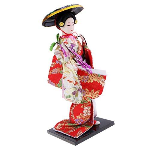 sharprepublic Traditional Japanese Geisha Oriental Doll - Decorative Ornaments - Unique Gifts & Favors - #16