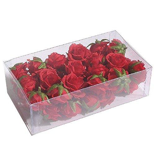 Bellaflor 14658/05001 - Testa per rose, 3,5 cm, confezione da 36 pezzi, colore: Rosso