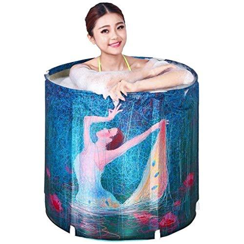 YUHT Faltbare Badewanne für den Haushalt, aufblasbare Badewanne für den Außenbereich, tragbar, aufblasbarer Pool, integriertes Kissen an der Unterseite, abnehmbarer Wasserhahn