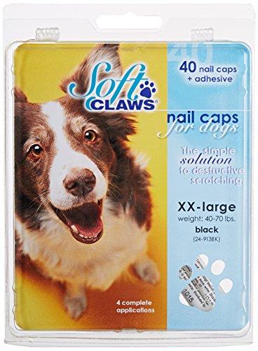 SOFT CLAWS Kit de protège-griffes XX-LARGE pour Chiens pesant entre 20 et 35 kg - Noir