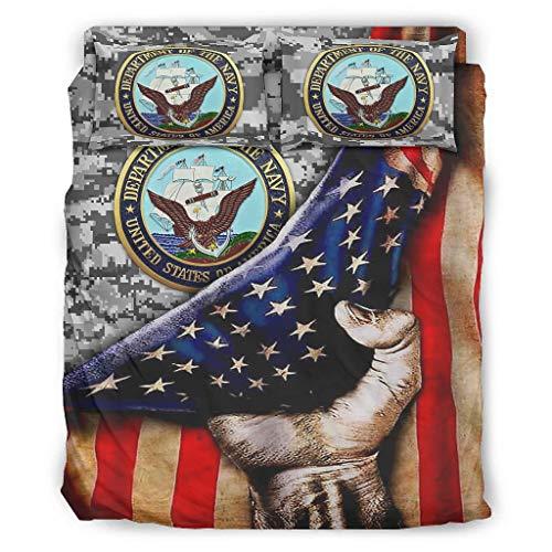 BBOOUAG Conjuntos Retro 4 piezas almohada bandera americana de la bandera de América