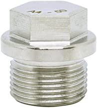 (1pc) BelMetric M22X1.5 Flanged A4-50 Stainless Steel Hex Head Corrosion Resistant Plugs DIN 910 for Machinery and Fittings, Sealing Washers Included DP22X1.5HSS