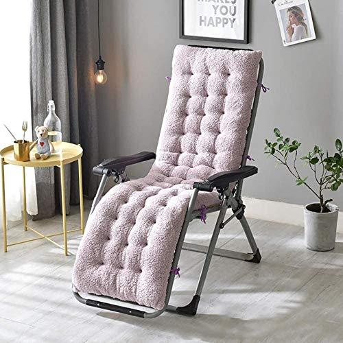 Tumbona almohadillas de cojín de engrosamiento súper suaves, sillas reclinables reclinables almohadillas de cojín para jardín al aire libre y patio, cojín plegable, relajante de múltiples posiciones,