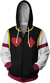 Hisoka Hunter Cosplay Hoodie Jacket Costume 3D Printed Hooded Pullover Sweatshirt Coat for Men Halloween