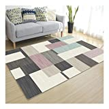 La alfombra Antideslizante Dormitorio Moderno Sala de Estar Dormitorio Lavable Suave Pasillo HAODAMAI (Color : A, Size : 180x250cm)