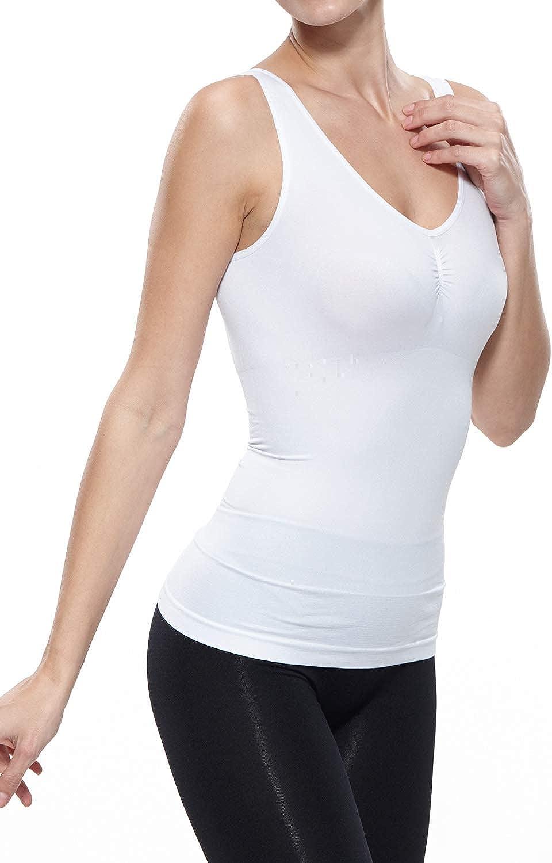 Belugue Womens Shapewear Firm Control Tank Tops Camisole Basic Vest Tummy Seamless Slim Smooth Regular Body Shaper