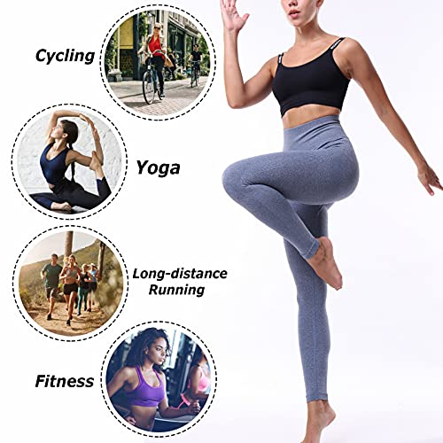 Enjyam Leggins Mujer Pantalon Deporte Yoga Fitness Running Gym Suaves Mallas Elásticos Cintura Alta para Reducir Vientre