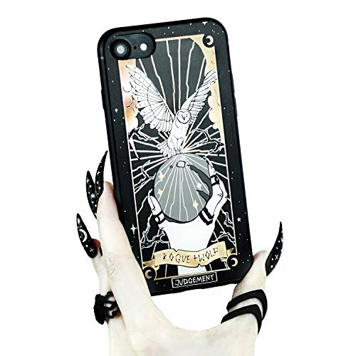 Rogue + Wolf Judgement Tarot Card Phone Case with Metallic Gold Mirror Details Compatible with iPhone 6 6S 7 8 Cases Wiccan Goth