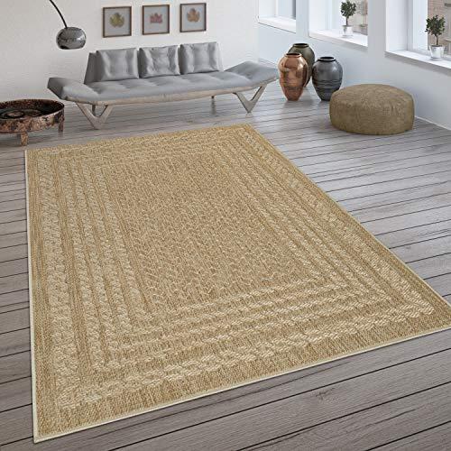 Paco Home In- & Outdoor-Teppich, Flachgewebe Mit Skandi-Muster Und Sisal-Look In Beige, Grösse:200x290 cm