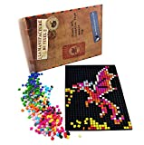 La Manufacture du Pixel - Kit 1 Grille et 1800 Pixels à insérer (Noir) - Pixel Art, Loisir Créatif, Mosaïque, Fun ! - Créez à l'infini Tout l'art Qui Vous Ressemble