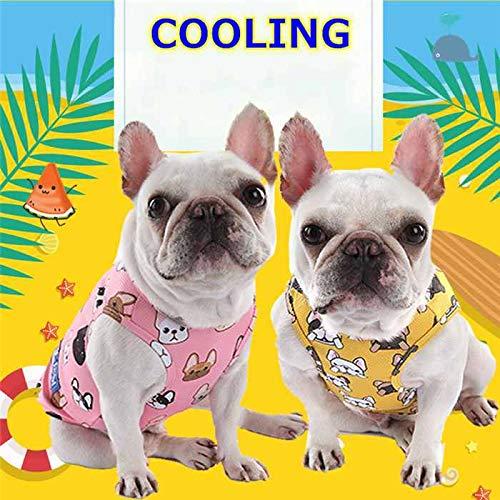 【24HOURS】夏 ペット服 クール 接触冷感ひんやり 冷却フレブル タンクトップ フレンチブルドッグ フレンチブルドッグ柄 犬 服 ペットウェア