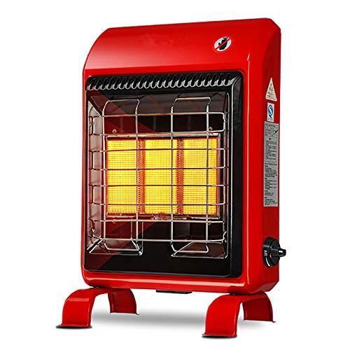 shmcc Calentador De Gas Portátil De 4200 W, Calentador De Gas Butano Tipo Gabinete De Pie, Radiador De Rueda, Protección contra Sobrecalentamiento, Regulador con 3 Configuraciones De Calefacción