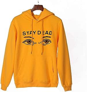 Sweaters for Women Long Sleeve Makulas Drawstring Blouse Cap Solid Print Casual Pullover Hoodies Loose Tops