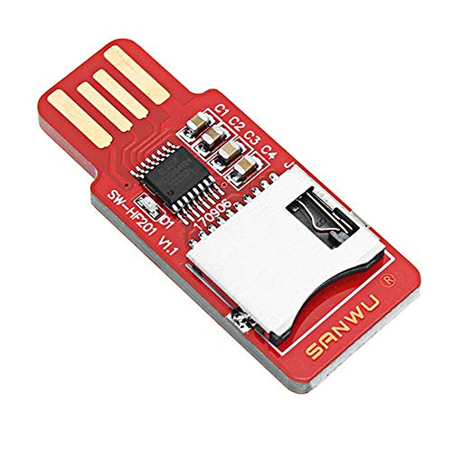 ZXJUAN Planer Boor 10 stks HF201 leesbare en beschrijfbare TF-kaartlezer Micro SD-kaart/mobiele telefoon geheugenkaart T-Flash kaartmodule ondersteuning Plug en Play Hotplug