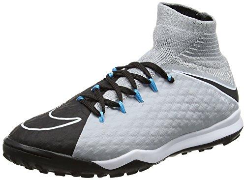 Nike Jr Hypervenomx Proximo 2 DF Tf, Scarpe da Calcio Unisex-Bambini, Multicolore (Grisloup/bleuchlorine/Noir), 37.5 EU