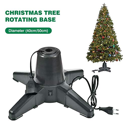 Fasteer Electric Metal Rotating Christmas Tree Stand Elf Tree Stand-Adjustable Base That Can Be Rotated 360 Degrees, Suitable for 7.5-Foot Artificial Trees