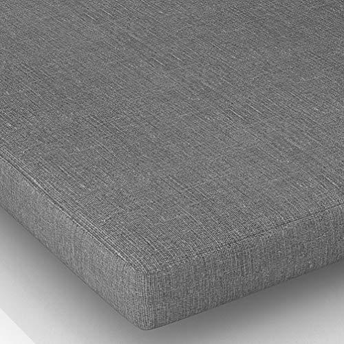 Cojín de asiento de silla, cojín para sillón, cocina, comedor, asiento suave y cómodo, para oficina en casa (gris claro, 45 x 45 x 5 cm)