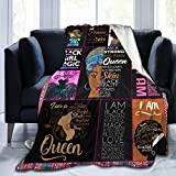 Partrest Throw Blanket African Ethnic Elements Womencozy Microfiber Blankets 50'X40' Bed Blankets for Adult Kids All Season Flannel Lap Blanket for Couch Sofa Or Bed Chair Living Room