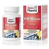 Cápsulas de Aceite de Krill Vainilla 500mg de ZeinPharma • 60 cápsulas (3 semanas de suministro) • NUEVO: ya no tiene un sabor a pescado • Hecho en Alemania