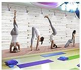 SKTYEE Papel tapiz fotográfico 3D personalizado Papel tapiz estéreo 3D mural estudio de baile sala de yoga salón de belleza gimnasio patio de juegos papel tapiz, 300x210 cm (118.1 by 82.7 in)