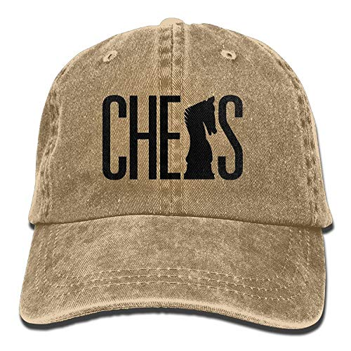 Gorra de béisbol de Mezclilla Silueta de ajedrez Hombres...