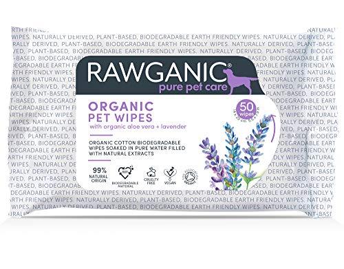 Rawganic Bio Pet Wipes - Toallitas húmedas para limpieza de mascotas (2 paquetes)