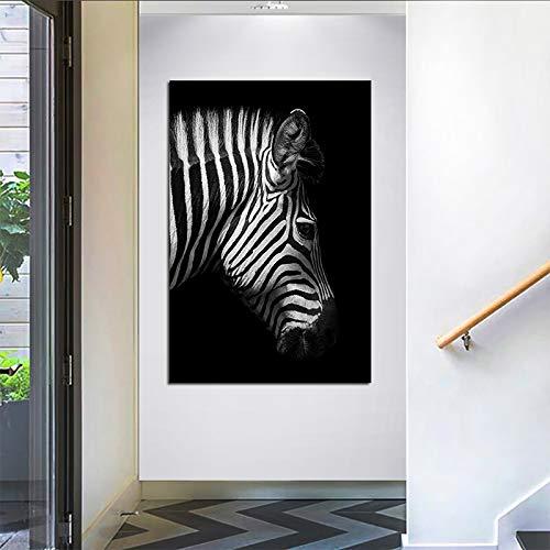 GJQFJBS Regenbogen Elefant, Pferd Tier Leinwand Gemälde Druck Wandkunst Bild Wohnzimmer Dekoration Gemälde A5 40x50cm