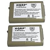 HQRP Dos Baterías para AT&T / Lucent EP5632 / EP5632-2 / EP5632-2A / EP590-2 / EP590-3 Teléfono inalámbrico + HQRP Posavasos