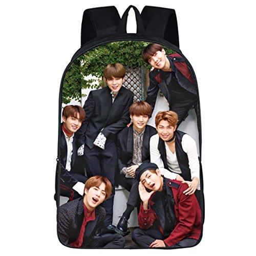 JUNG KOOK Kpop BTS GOT7 Rucksack Laptop Tasche Jimin Suga V Messenger Bag