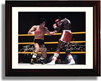 Framed Slyvester Stallone and Carl Weathers Autograph Replica Print - Rocky  Landscape