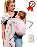 Ring Sling Baby Wrap Carrier-USA CPSC Lab Approved-Pacifier Clip Carry Bag Gift
