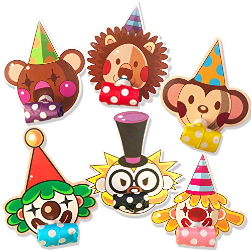 Discover Bargain Party Blower Animal Party Noisemakers Blowouts Whistles Party Favors, 12 pcs