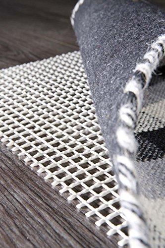 Teppich-Stop Antirutschmatte Teppichgleitschutz Teppichunterlage Haftgitter Rutschschutz, PVC beschichtetes Polyester, rutschhemmend zuschneidbar pflegeleicht strapazierfähig, weiß, 240 x 340 cm